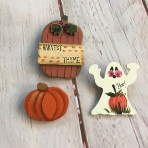 Bundle of 3 Wooden Fall and Halloween Pins